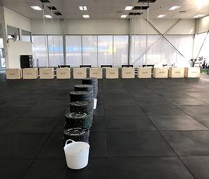 CrossFit Sana Bumpers; CrossFit Sana boxes