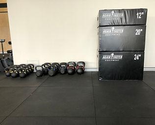 CrossFit Sana Kettlebells; CrossFit Sana Soft Plyo Boxes