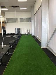 CrossFit Sana bences; CrossFit Sana Sleds; CrossFit Sana Prowlers; CrossFit Sana Sled Track