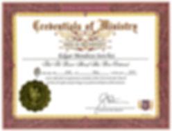 CERTIFICADO OFICIAL DE MISNISTRO EDGRA M