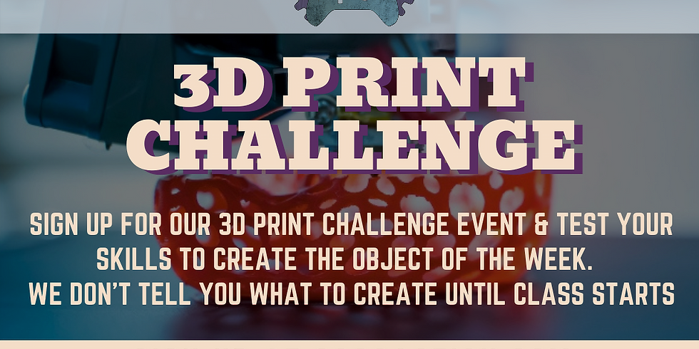 3D PRINT CHALLENGE EVENT (IN-STORE & VIRTUAL)