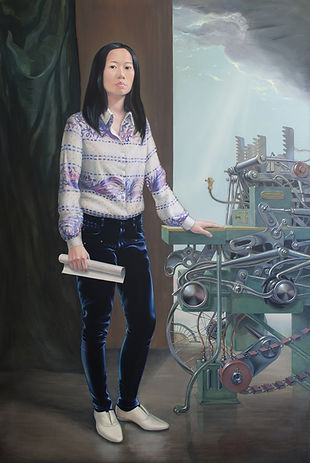 Andro Semeiko, Unveiling Transmitter TMYCW-1, 2016, acrylic and oil on canvas,180x120cm