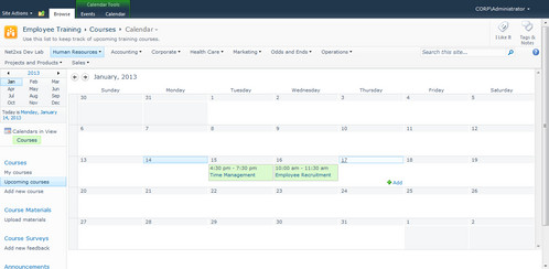sharepoint employee scheduling