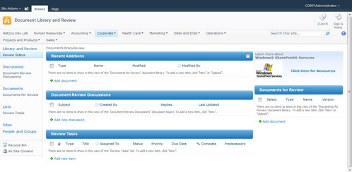 sharepoint 2010 library template