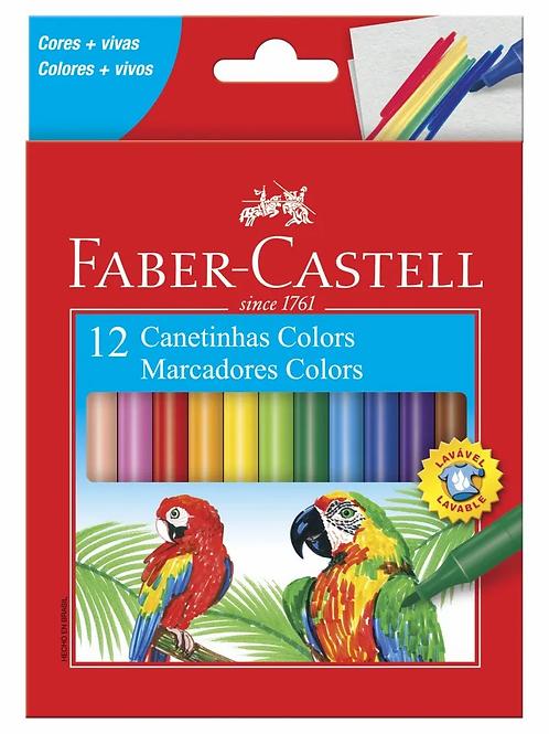 Canetinha Hidrocor Faber-Castell 12 Cores