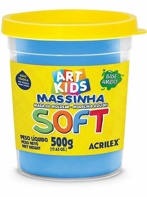 Massinha de Modelar Soft Acrilex Pote de 500g Várias Cores