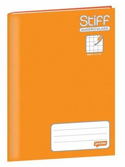 Caderno Brochurão Quadriculado 1x1 Laranja Jandaia