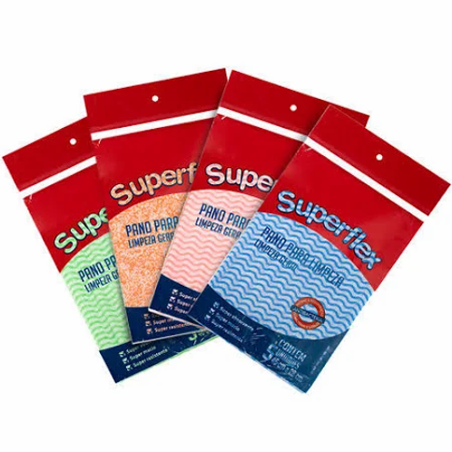 Panos para Limpeza Superflex Pacote com 5 Unidades