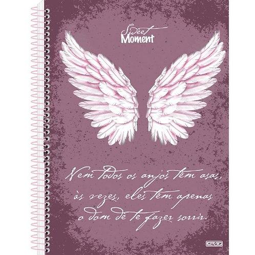 Caderno Universitário 10 Matérias Sweet Moment 160 folhas