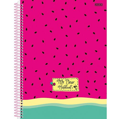 Caderno Universitário 10 Matérias My Dear 160 folhas