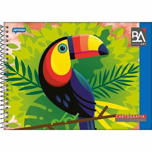 Caderno Cartografia Capa Dura Jandaia 96 folhas