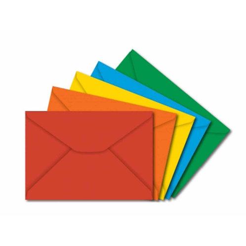 Envelope de Carta Colorido 11x16 Várias Cores