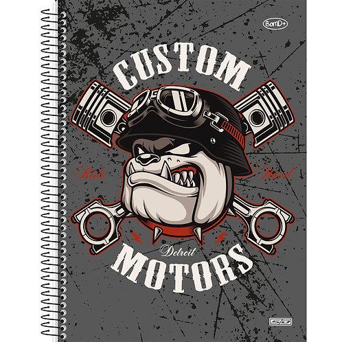 Caderno Universitário 10 Matérias Bom D+ Masculino 160 folhas