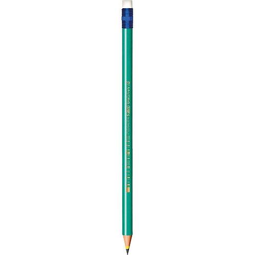 Lápis Preto Redondo HB com Borracha Bic Evolution Unidade