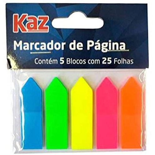 Marcador de Página Adesivo Marca Kaz