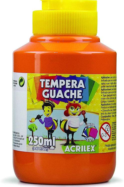 Tinta Guache pote de 250ml Acrilex Várias Cores