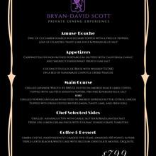 Our Purple Label menu