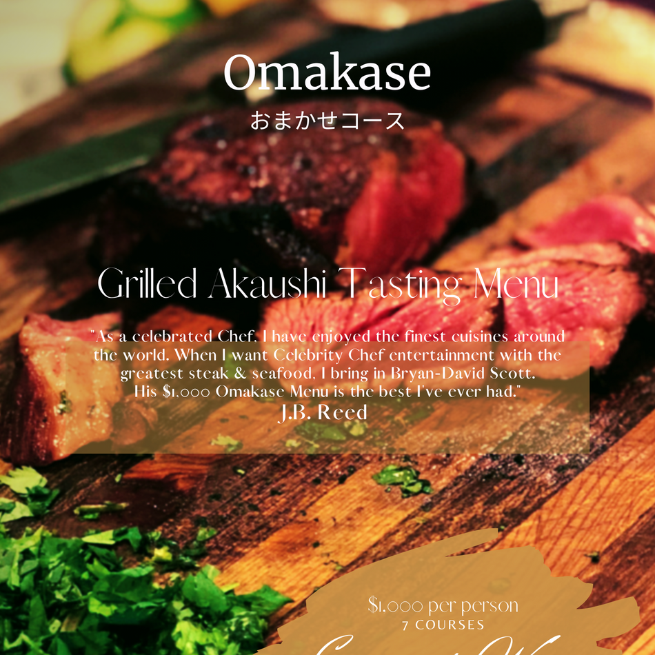 "In 2016, Chef earned the title Omakase Chef which in Japanese culture means, ""Trust the Chef."" For our Omakase tasting menu, guests do not usually know in advance what the Chef is preparing, but they count on an exceptional, mind bending dining experience"