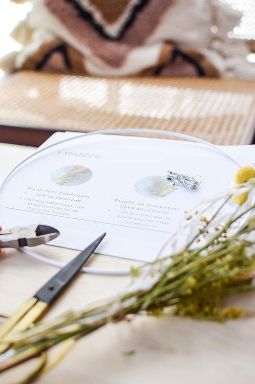 DIY: maak je eigen witte/gele droogbloemenkrans