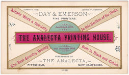6. business card, The Analecta Printing House,1887