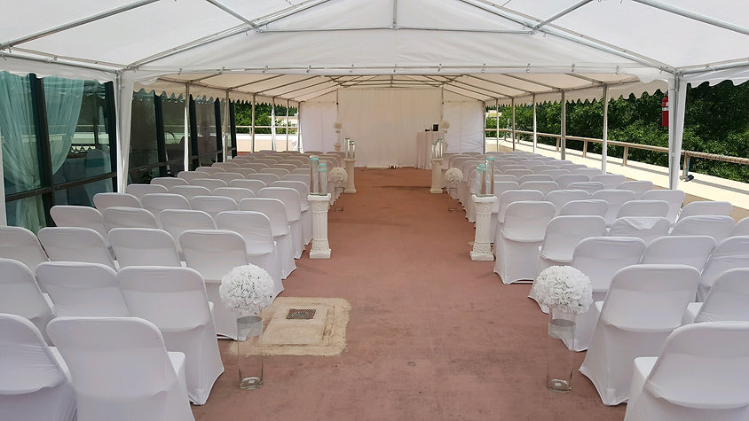 Tent set up in Ceremony Style