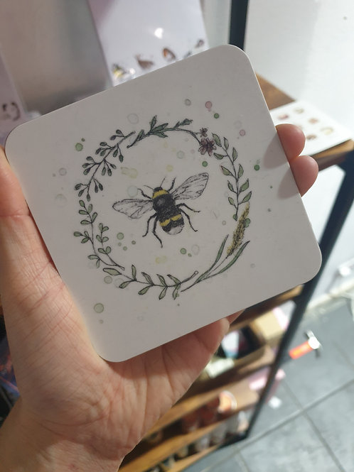 Bee coaster by Eleanor Tomlinson
