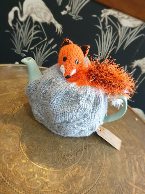 Handknitted Fox Teacosy by KraftyKats