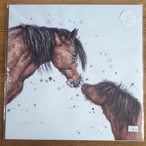 Horse & Foal Print by Eleanor Tomlison