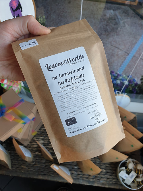 Leaves of the World Mr Turmeric and his 46 friends Loose Leaf Tea