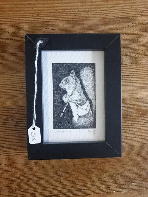 """Wildlife art no.1 by Jenny Wren Draws 6x5"""""""