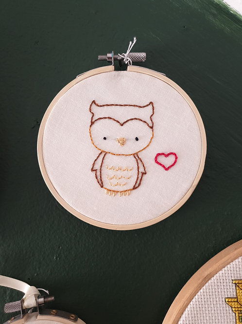 Owl Embroidery by Create & Bloom
