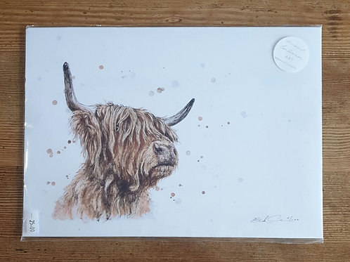 Highland Cow Print by Eleanor Tomlinson