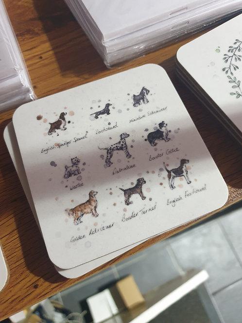 Dog breed coaster by Eleanor Tomlinson