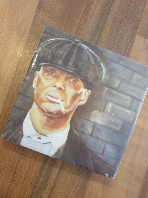 Tommy Shelby Coaster by Diane Allerston