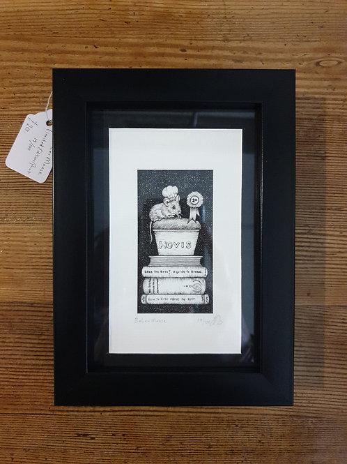 "Baker mouse by Jenny Wren Draws 5x7"""