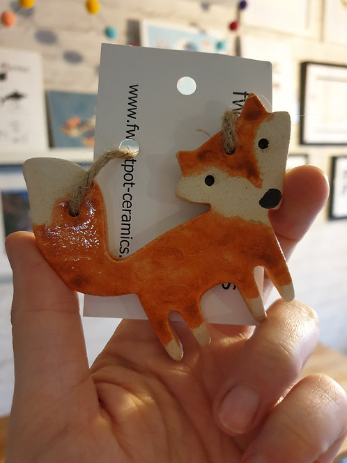 Ceramic Fox Dangly by Fwootpot Ceramics