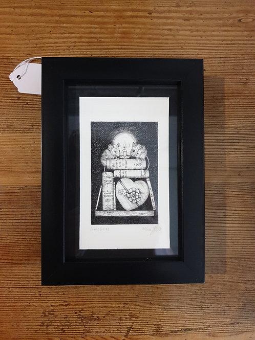 """Love stories by Jenny Wren Draws 5x7"""""""