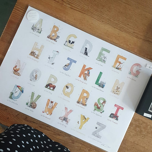 Alphabet by Eleanor Tomlinson Unframed A3