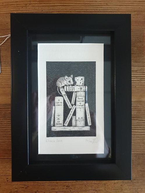 "Cheese Love by Jenny Wren Draws 5x7"""
