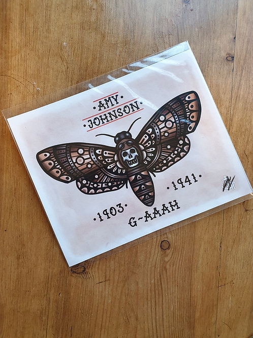 Amy Johnson Moth by Tattoo harbour