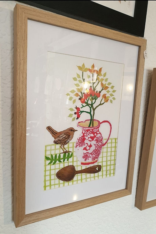 Pink Vase Collage