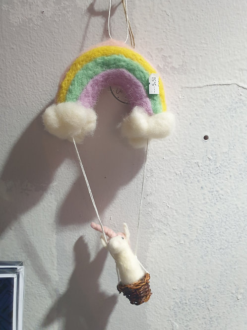 Rainbow Unicorn Felt Dec