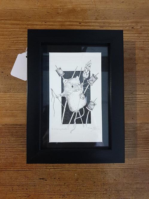 """Stitchery Doodah! By Jenny Wren Draws 5x7"""""""
