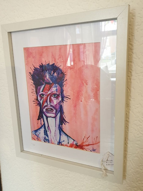 David Bowie Framed Print By Diane Allerston