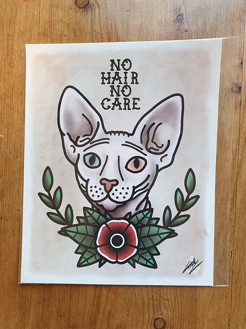 No Hair, No Car by Tattoo Harbour
