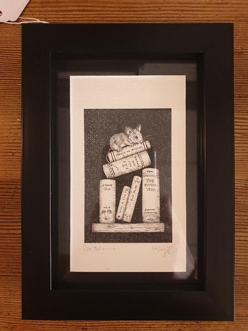 "Life Balance by Jenny Wren Draws 5x7"""