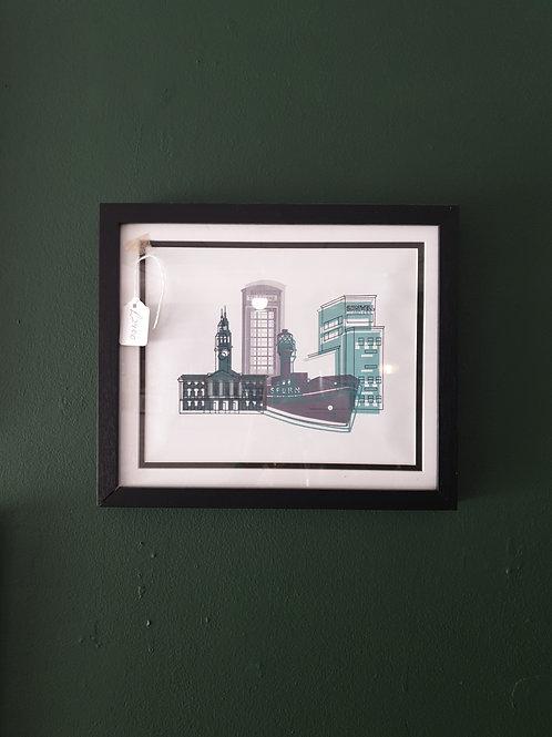 Teal landmarks by Zoe Coterill