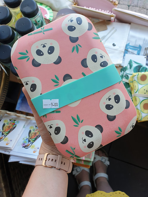 Panda Bamboo Lunch Box