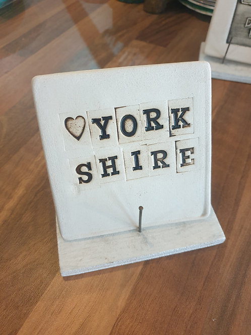 Yorkshire Coaster by Fwootpot Ceramics