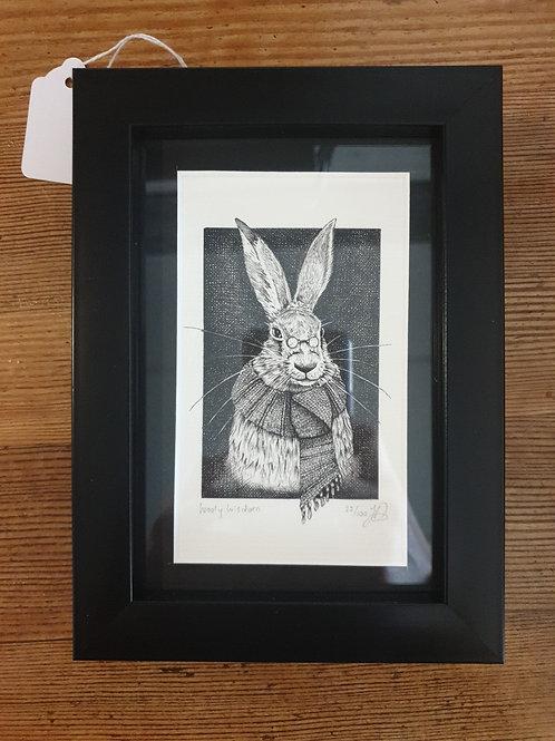 """Wooly Wisdom by Jenny Wren Draws 5x7"""""""